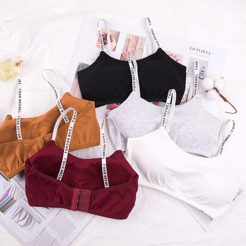 Teenage Young Girls Bra Cotton Underclothes Bra for Girl Underwear Wireless Small Training Bra for Teens Girl Underwear Clothing