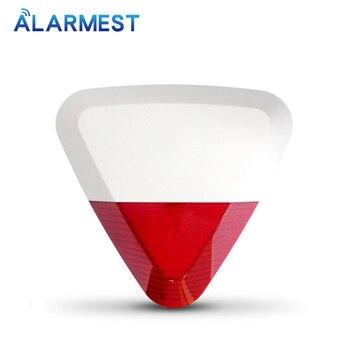 цена на ALARMEST Wireless Outdoor  Strobe Siren 433mhz for  Secuirty Alarm System H6/Chuango