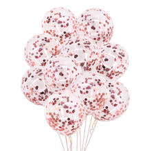 5/10/15/20/25 pces festa de aniversário deco rosa ouro confetes balão 12 polegada látex balões decorações do casamento chá de fraldas festa suprimentos