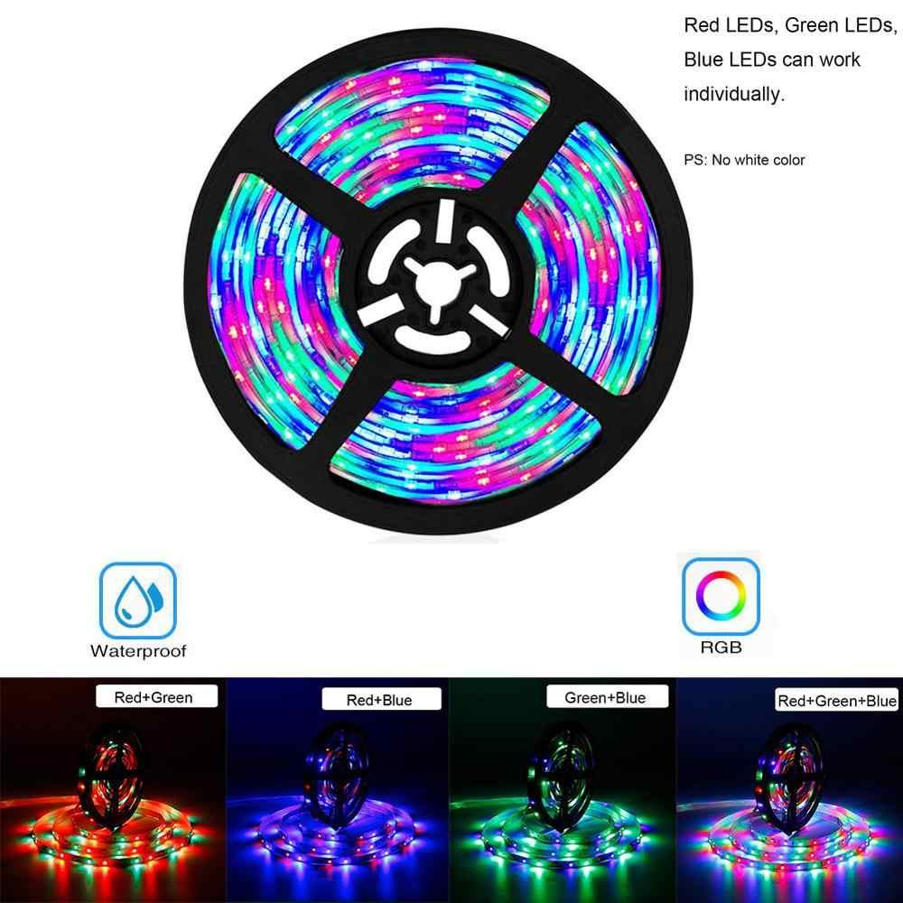 15m 10m 5M RGB taśmy LED światła wodoodporna elastyczna Fita diody taśmy z 24Key zdalny pilot RGB 12V 2A 5A Adapter LED