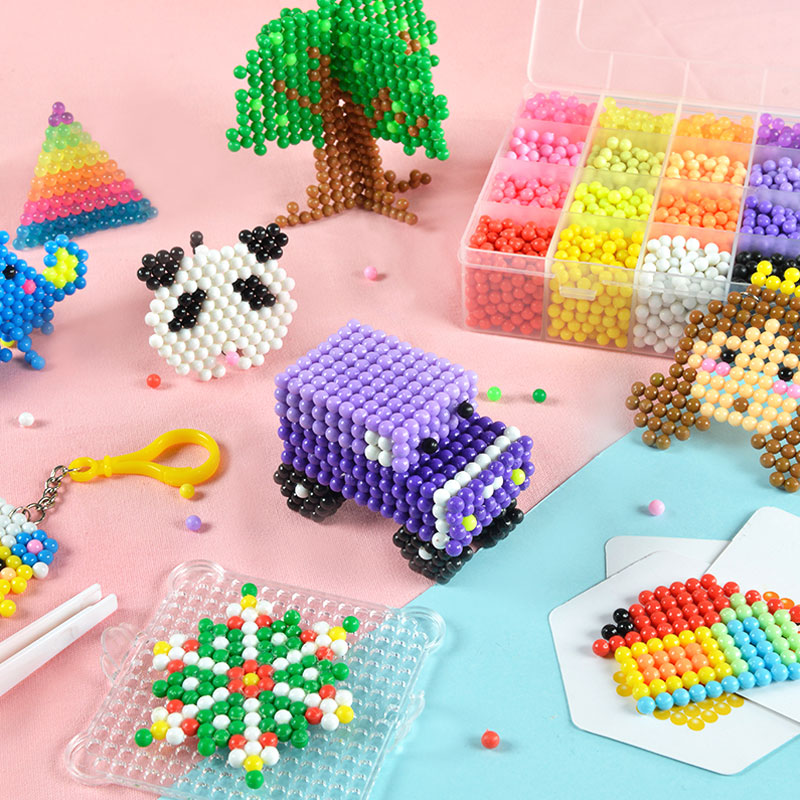 500pcs Magic Puzzle Beads Toys For Children Boys Girls Rainbow Loom Kids Diy Pearl Water Spray Magic Pixels Bead Christmas Gift