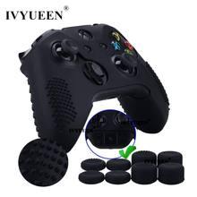 IVYUEEN-funda protectora antideslizante para Xbox One X S, 8 Uds. De empuñaduras de palo analógico, tapas de pulgar de altura Extra