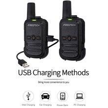2 pces AP 102 mini walkie talkie uhf 400 470 mhz com 16 canais dois 1500mah transceptor fm rádio da maneira da bateria AP 102