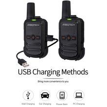 2 pces AP-102 mini walkie talkie uhf 400-470 mhz com 16 canais dois 1500mah transceptor fm rádio da maneira da bateria AP-102