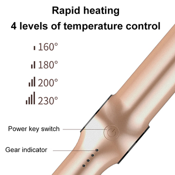 New Spiral Hair Straightener Curling And Straightening Dual-purpose Splint Four-speed Temperature Control Curling Iron 5