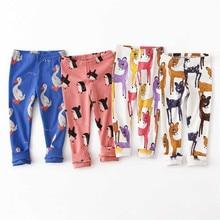 Newborn Pants Leggings Cartoon Animal Pattern Baby leggings Autumn Winter 100% Cotton Soft Girls Pants Baby Boy trousers Pants