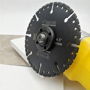 """Image 5 - להב יהלום מולחם ואקום 115 מ""""מ DIATOOL לכל המטרה עבור אבן פלדת ברזל יצוקה אלומיניום 4.5 """"הריסה שעם להב 22.23"""