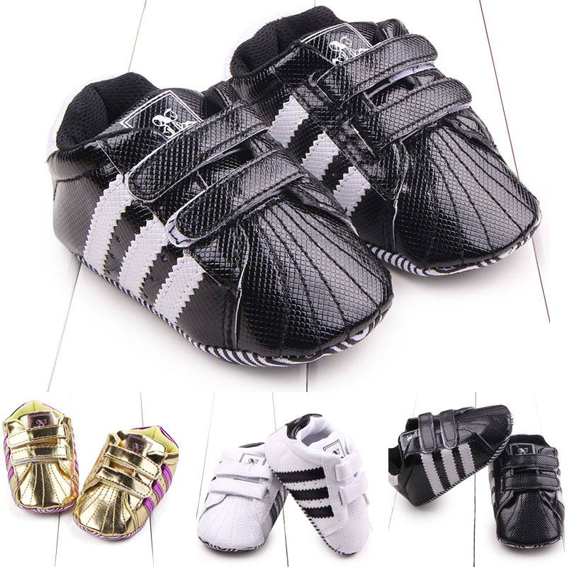 2019 New Baby Toddler Shoes Newborn Baby Boys Girls First Walkers Stripe PVC Soft Bottom Shoes Non-slip Footwear Infant Shoes