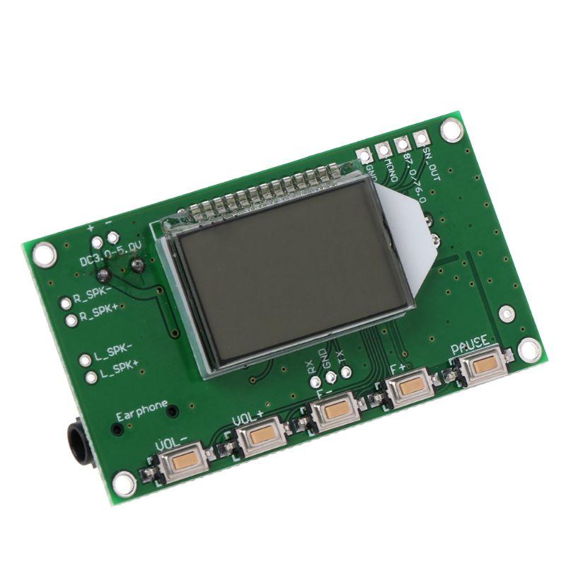 PLL жк цифровой FM радиоприемник модуль 87-108 мгц беспроводной микрофон стерео поддержка прямой поставки