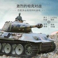 Henglong RC Tank 3819 Infrared Combat Customized Ver Panther RTR Metal Tracks Wheels