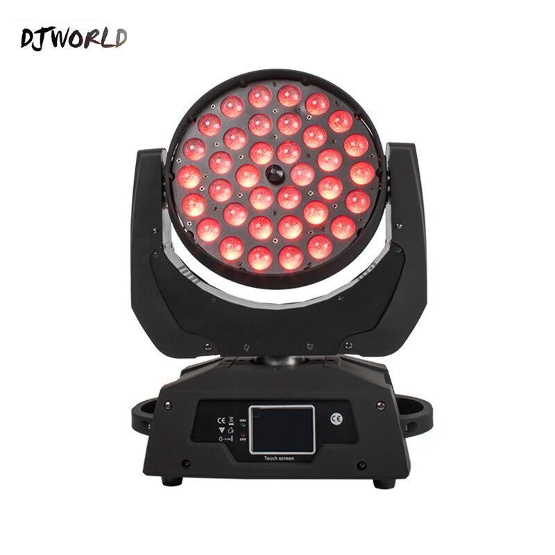 2pcs/lot LED 36x18W Zoom LED RGBWA+UV Moving Head Zoom Wash DJ Light Render 6 Color In Hall Stage Disco Bar Night Club