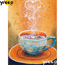 Full Square/Round drill diamond Painting a cup of coffee 5D DIY diamond embroidery mosaic Decoration painting AX0111 full square round drill diamond painting a cup of coffee 5d diy diamond embroidery mosaic decoration painting ax0111