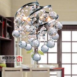 Lámpara colgante de cristales moderna con suspensión de cristal, lámpara colgante de cristales a la moda para comedor dormitorio lámpara S cama lampen industrieel