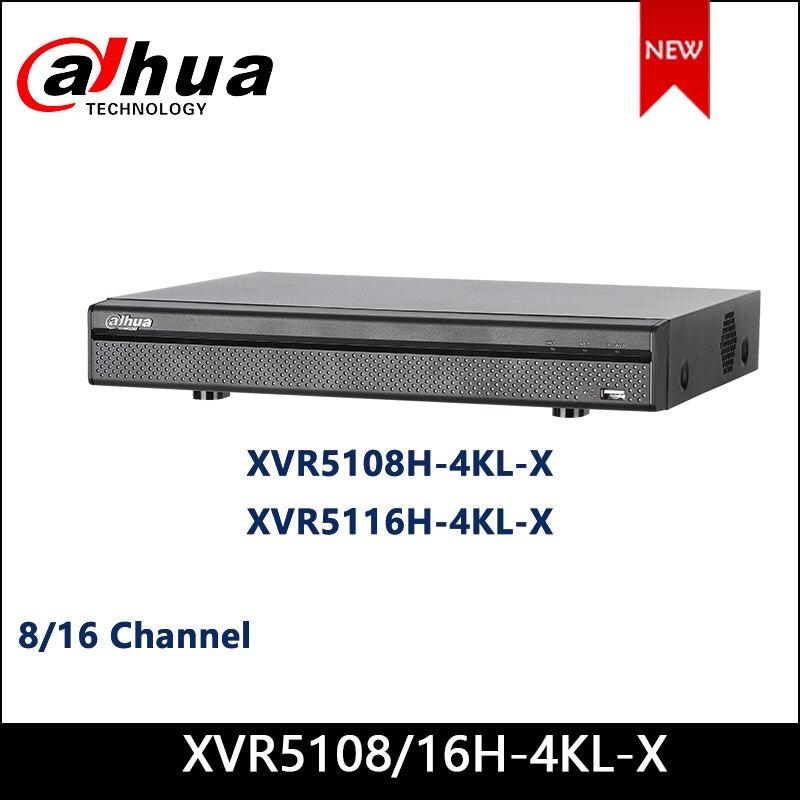 Dahua XVR XVR5108H-4KL-X XVR5116H-4KL-X 8/16 canaux penta-brid 4K Mini 1U enregistreur vidéo numérique prend en charge HDCVI/AHD/TVI/CVBS/IP