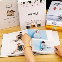 4X6 семейный Мемориальный альбом для детей, фотоальбом, подарок на день Святого Валентина, 200 листов, альбом для хранения фотографий