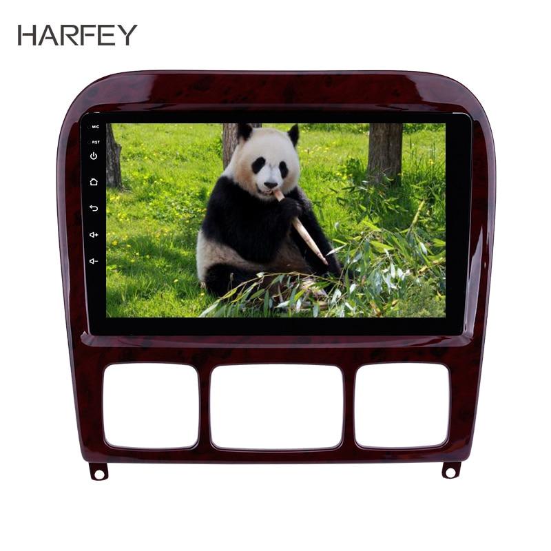 Harfey 9 pouces Android 8.1 voiture Radio GPS système de Navigation pour Mercedes Benz S classe W220 S280 S320 S350 S400 S430 S500 1998-2005