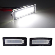 2Pcs LED License Plate Number Light Lamp Error Free For Benz W450 W453 Smart Fortwo Coupe Convertible 450 451 Car Light 18SMD цена