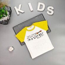 Футболка с короткими рукавами для мальчиков Детская летняя одежда г. Новые Стильные Детские хлопковые топы в западном стиле для малышей, футболка в Корейском стиле