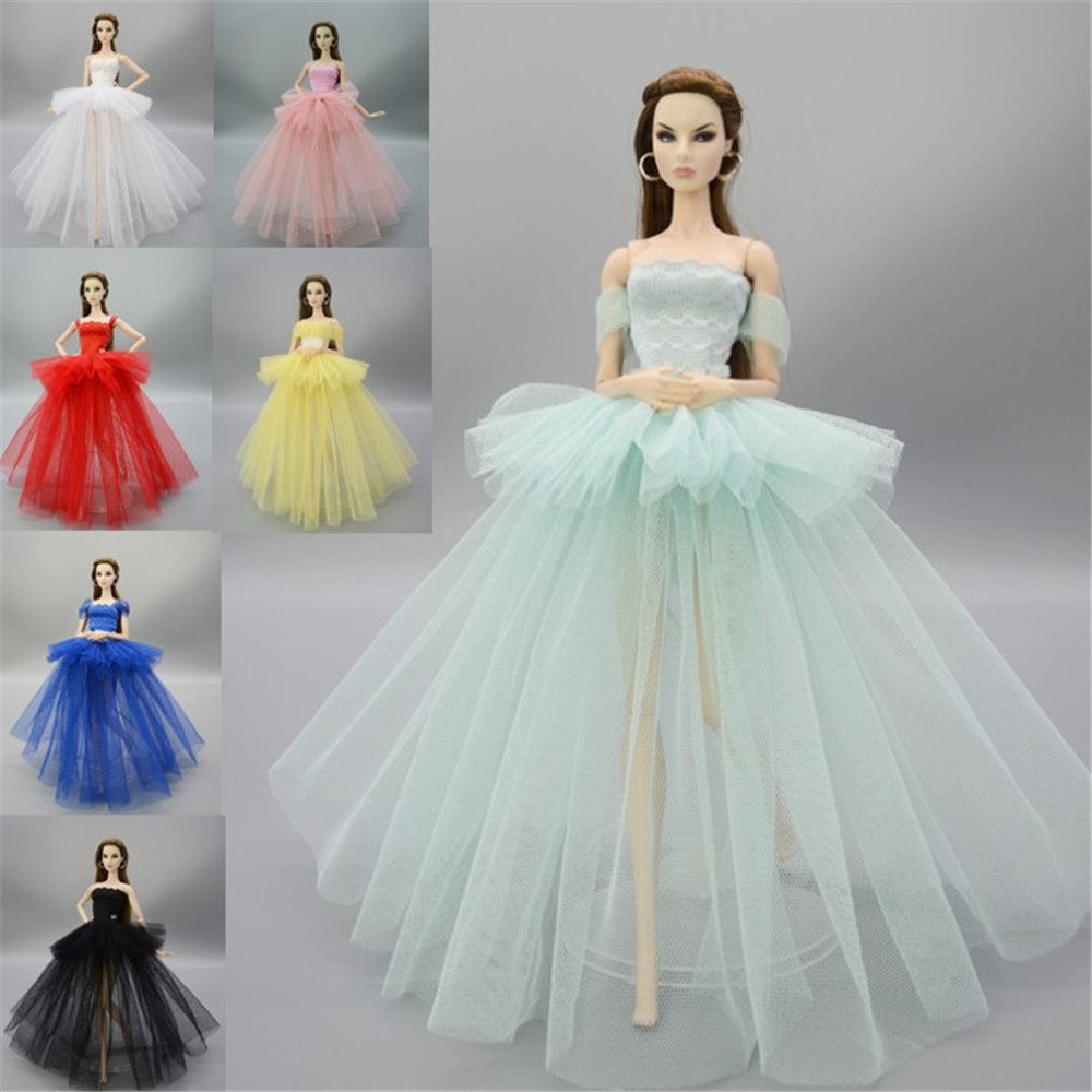 Dolls Fairy Dress Toy Wedding Princess Party Elegant Dresses Outfit Clothes Doll Accessories For 30cm Barbie Toys