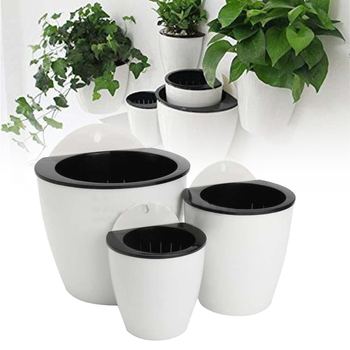 Hanging Plant Pot Self Watering Garden Wall Mounted Hanging Planter Basket Basket Basket Flower Creative Plastic Decor Supply 5