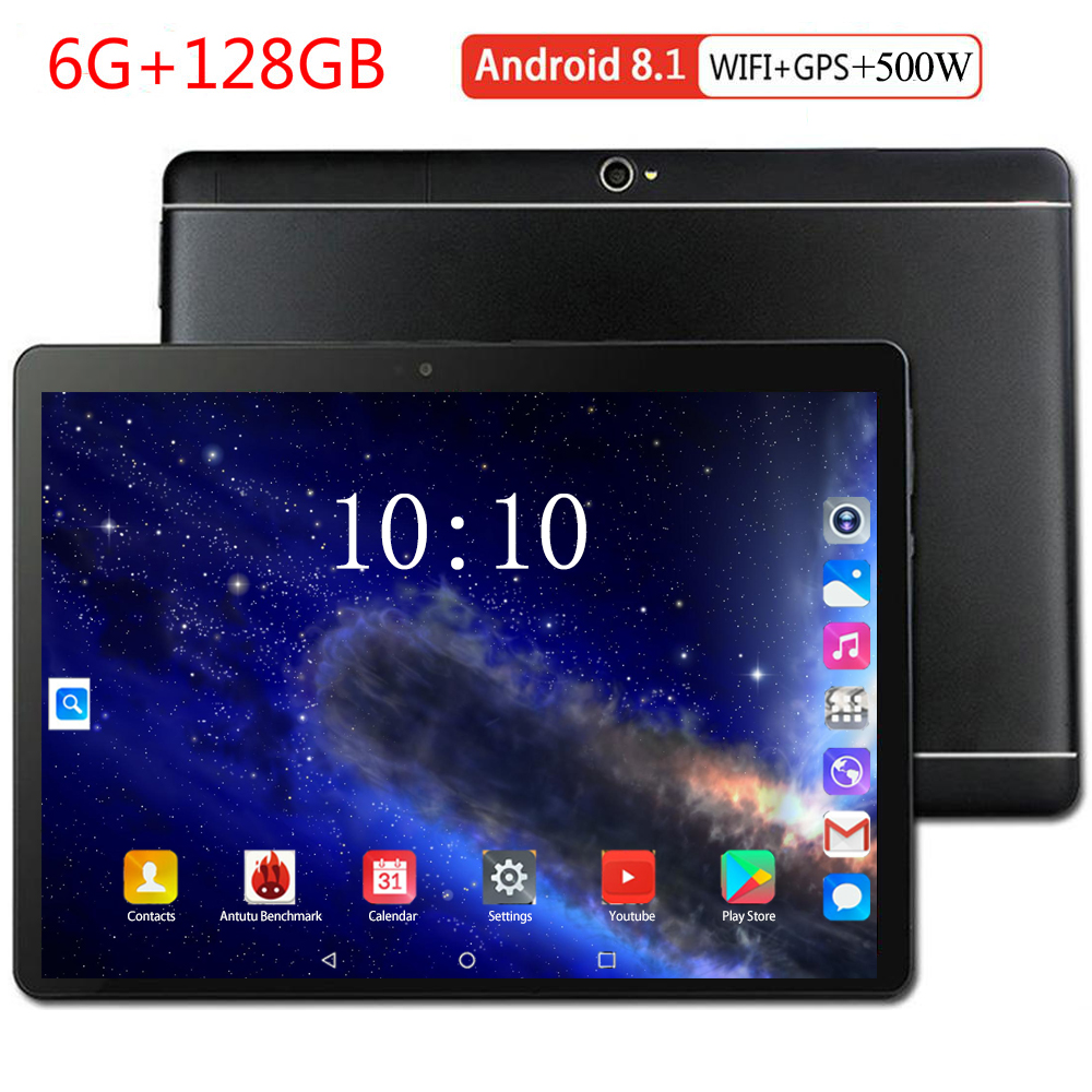 2020 New Good Tablet 10 Inch 4G LTE Tablet PC Octa Core 6GB RAM 128GB ROM 1280*800 IPS 10.1 Android 8.0 Kids Tablets Fpr Gift