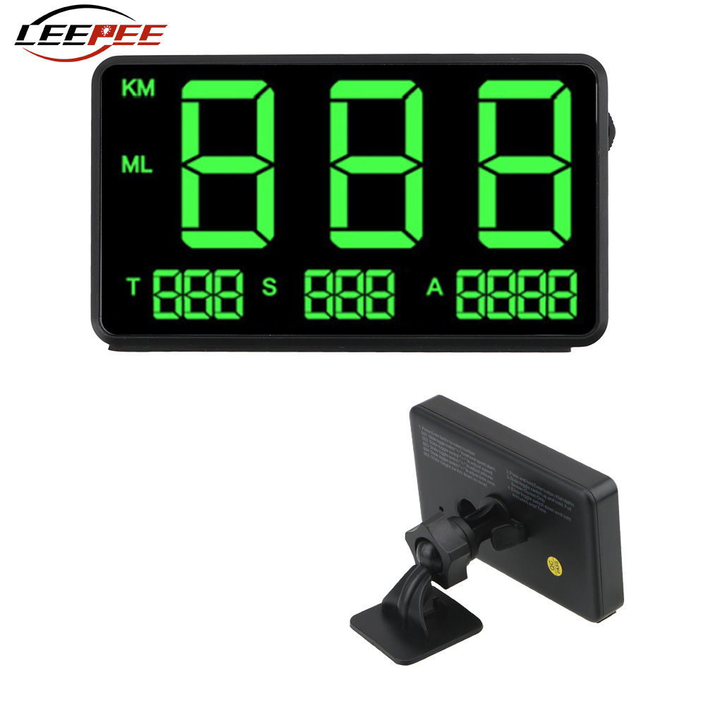 LEEPEE C60s C80 Car GPS Speedometer LED Head Up Display Altitude Display Projector KM h MPH Odometer Auto Accessories Universal