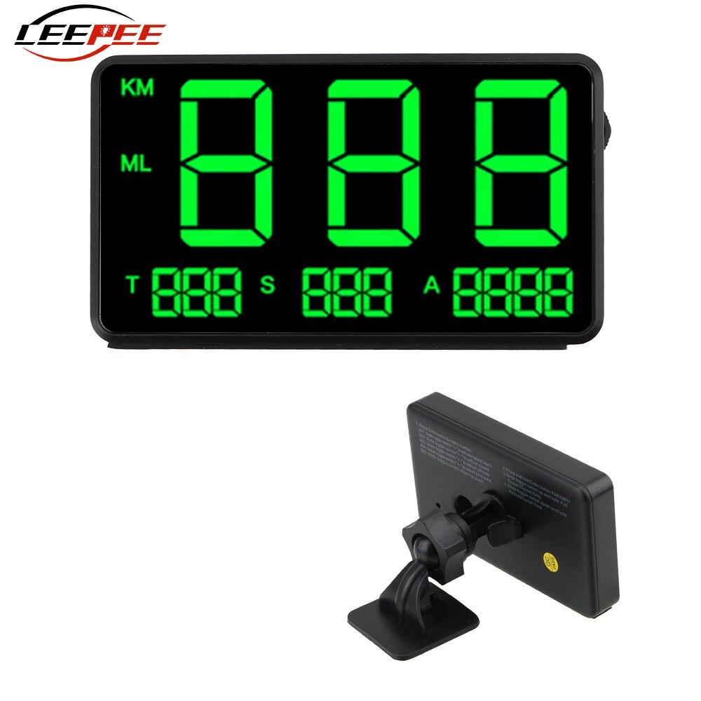 LEEPEE C60s C80 voiture GPS compteur de vitesse LED tête haute affichage Altitude affichage projecteur KM/h mi/h compteur kilométrique accessoires Auto universel