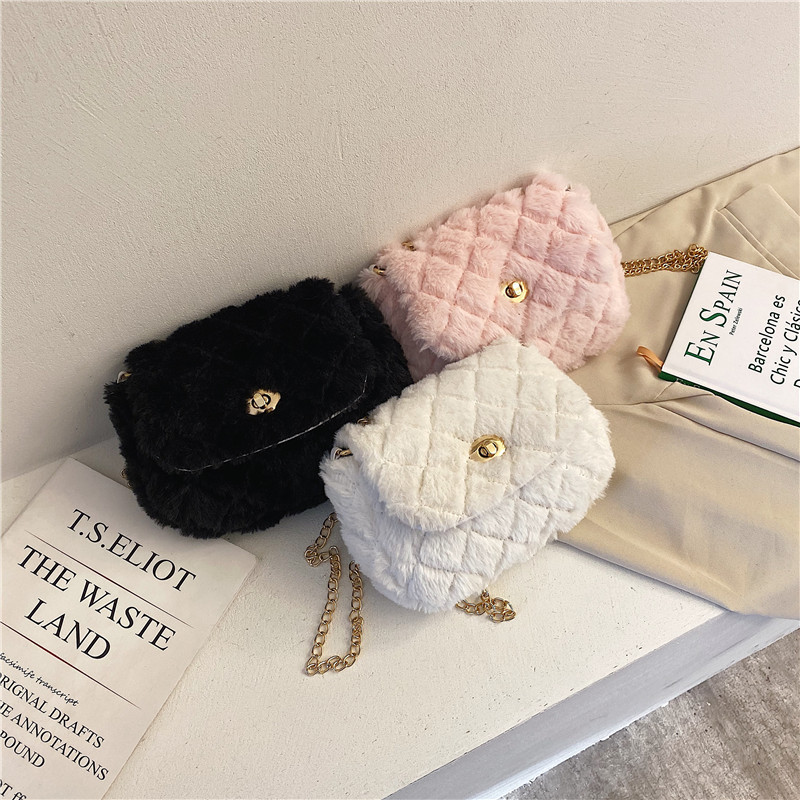 2020 New Style Women Plush Bag Japanese-style Cute GIRL'S Shoulder Bag Fashion Soft Girl Versatile Crossbody Bag