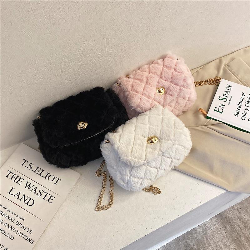 2020 New Style Women Plush Bag Japanese-style Cute GIRL'S Shoulder Bag Fashion Soft Girl Versatile Crossbody Bag