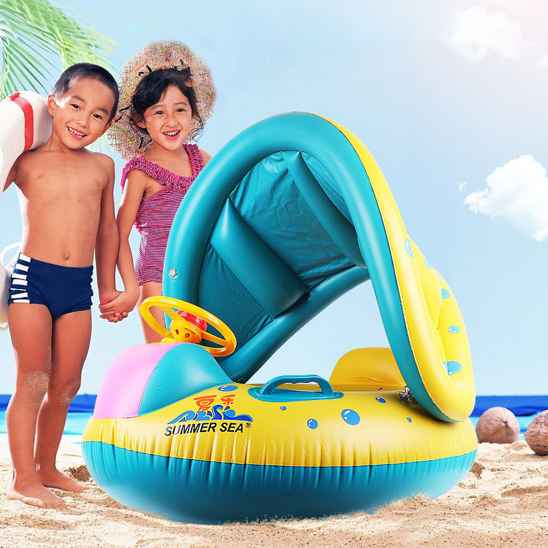 New Baby Kids Inflatable Swimming Ring Summer Swim Float Water Fun Pool Toys Swim Ring Seat Boat Water Sport For 3-6Y Children