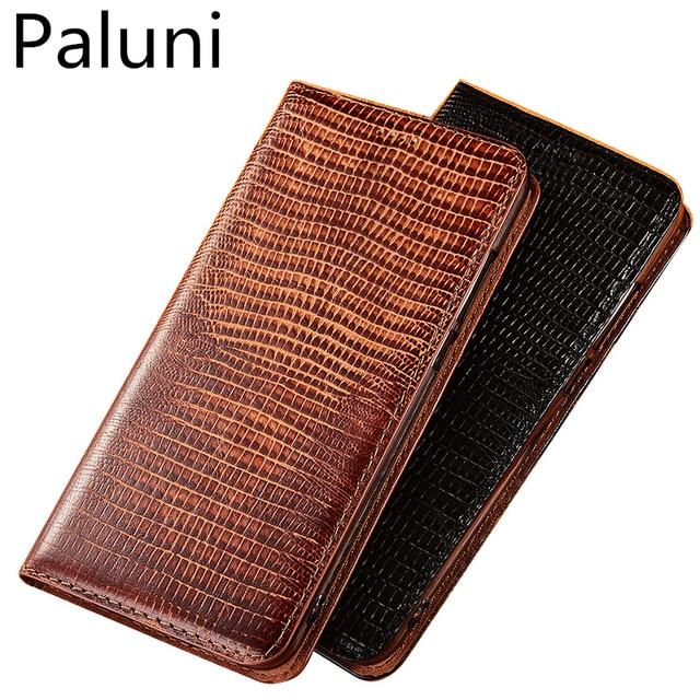 High end lizard pattern natural leather case card slot holder for Xiaomi Mi A3/Xiaomi Mi A2/Xiaomi Mi A1 magnetic phone case