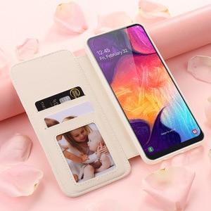 Image 3 - Luksusowy portfel etui na telefony z klapką dla Samsung A70 A50 A30 A20 dziewczyna skórzane pokrywa dla Galaxy A8 2018 A7 A6 A5 A3 J6 J4 Plus J3 2017