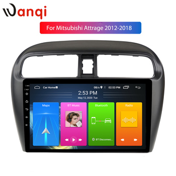 9 Inch IPS 2.5D Android10 Car Radio for Mitsubishi Mirage Attrage 2012-2018 Ca Player Picture in Picture Multimedia NO DVD image
