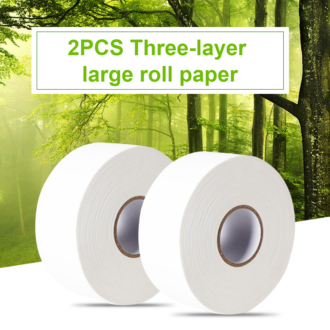 2pcs 580g/roll 900+sheets Jumbo Roll White Toilet Tissue Soft Toilet Paper Hollow Replacement Roll Paper For Home Public Hotel