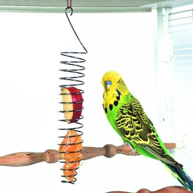 Spiral Birds Feeder, Millet Treat Fruit Holder for Parrot - Stainless Steel 2