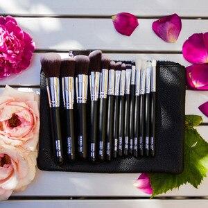 Image 3 - MAANGE 6 15Pcs Makeup Brushes Set Powder Foundation Eyeshadow Cosmetic Make Up Brush With PU Leather Case Beauty Tool Kit