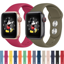Correa de reloj Apple apple watch banda 5 44mm 40mm correa de reloj apple watch 5 4 3 2 1 brazalete de silicona deportivo Cinturón correa iwatch banda 42mm 38mm(China)