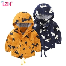 LZH 2020 Autumn Winter Children Cartoon Printing Car Hooded Jacket For Boys Clothes Kids Jacket Baby Boy Outerwear Coat 1-5 Year cheap Fashion Polyester Cotton CN(Origin) Regular Outerwear Coats Full Fits true to size take your normal size Heavyweight
