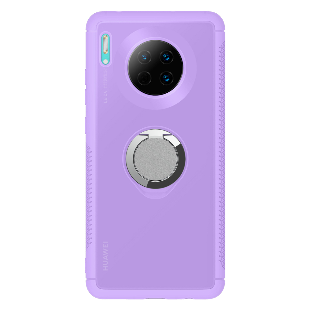 Phone Case For Huawei P30lite Nova4e Y9prime 2019 UV Discoloration Phone Back Cover With Adsorption Finger Ring For Mate30