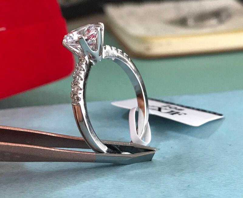100% anel de prata sólida, topaz 2ct