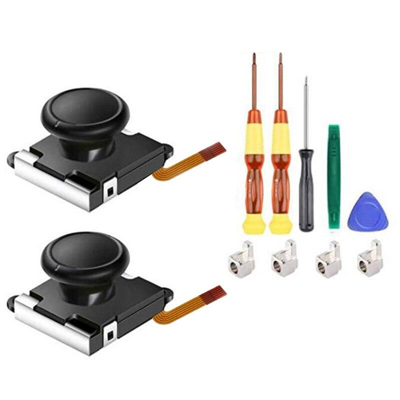 Набор запасных частей для джойстика с 3D аналоговым сенсором, подходит для Nintendo Switch NS Joy-Con 11 шт.