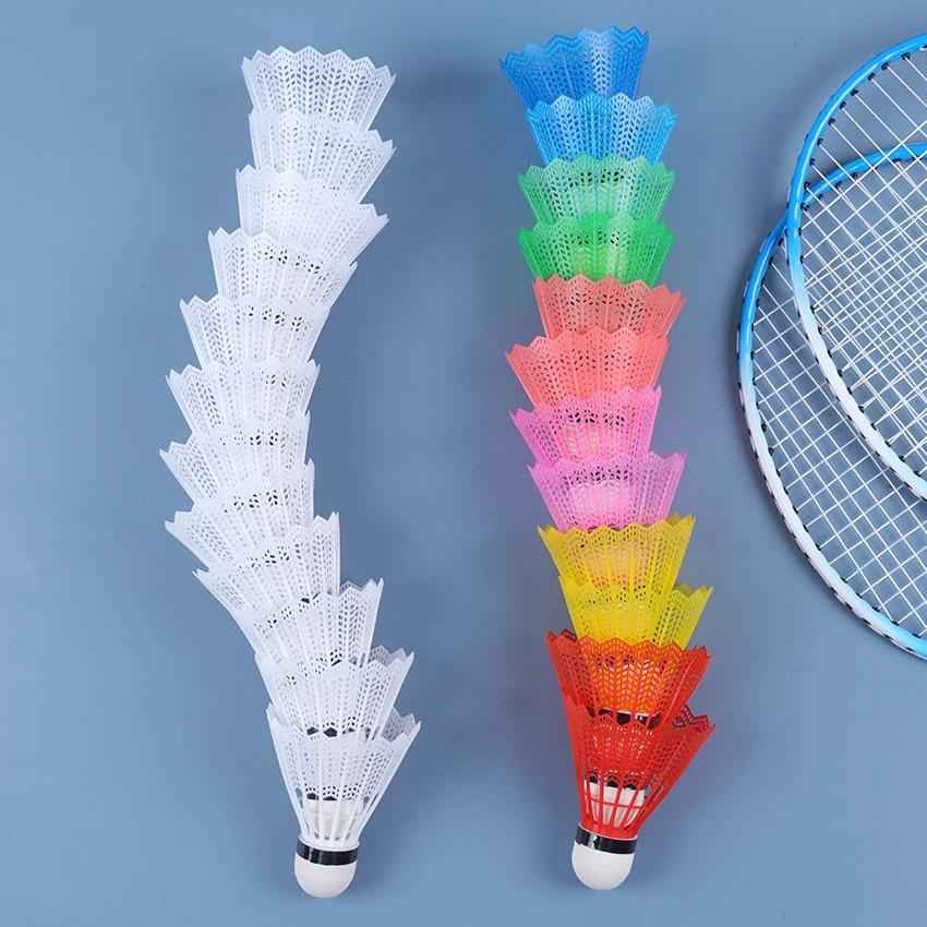 12 pçs ao ar livre suprimentos coloridos bolas de badminton portátil viajar para fora produtos esporte treinamento peteca