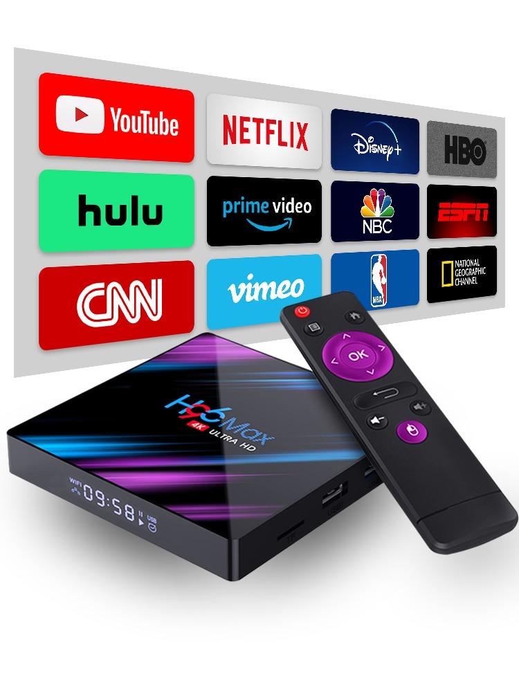 Set Tv-Box Mali-450 Usb-3.0 RK3318 Smart Bluetooth-4.0 Android 9.0 4K Top GPU 4096x2160