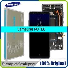"""Nowy 6.3 """"oryginalny ekran super amoled do SAMSUNG Galaxy NOTE8 wyświetlacz LCD N950 N950F wymiana ekranu dotykowego części + rama"""
