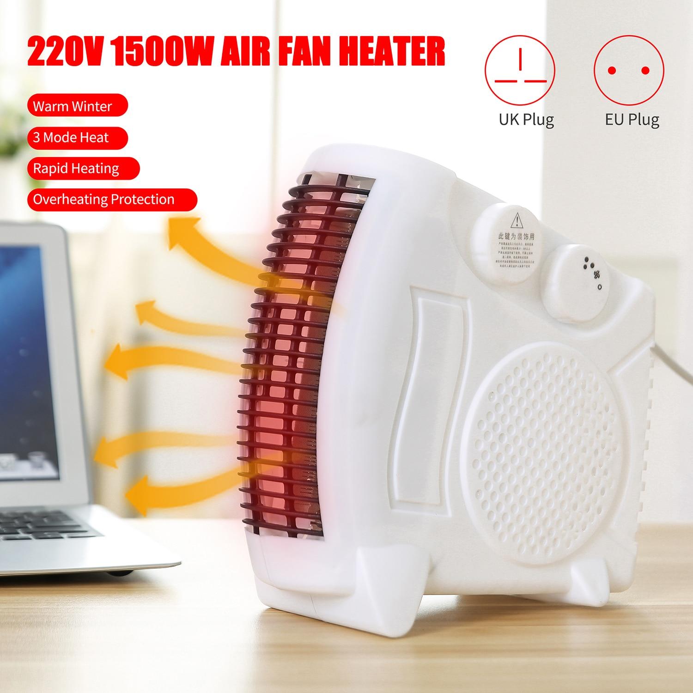 220V 1500W Mini Electric Heater Portable Space Home Office Winter Warmer Fan Air Heater UK/EU/US Plug