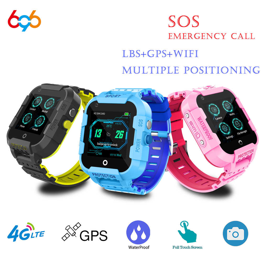 696 DF39Z 4G Kids Smart Watch GPS Wifi Tracker Smartwatch Touch Screen SOS SIM Phone Call Waterproof Children Gift Camera Watch