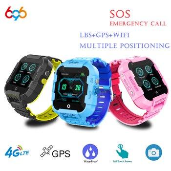 696 DF39Z 4G Kids Smart Watch GPS Wifi Tracker Smartwatch Touch Screen SOS SIM Phone Call Waterproof Children Gift Camera Watch