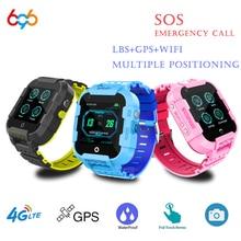 696 DF39Z 4G çocuklar akıllı saat GPS Wifi izci Smartwatch dokunmatik ekran SOS SIM telefon görüşmesi su geçirmez çocuk hediye kamera izle