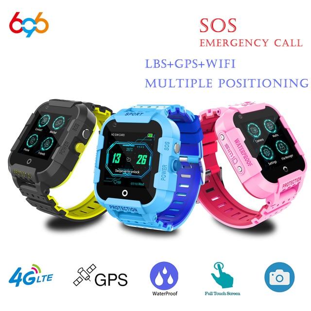 696 df39z 4g 어린이 스마트 시계 gps 와이파이 추적기 smartwatch 터치 스크린 sos sim 전화 방수 어린이 선물 카메라 시계