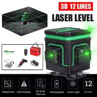 3D Laser Level 12 Lines 360 Rotary Nivel Laser Tripod for Level Lazer Receiver Bracket Building Tools Construction Tools